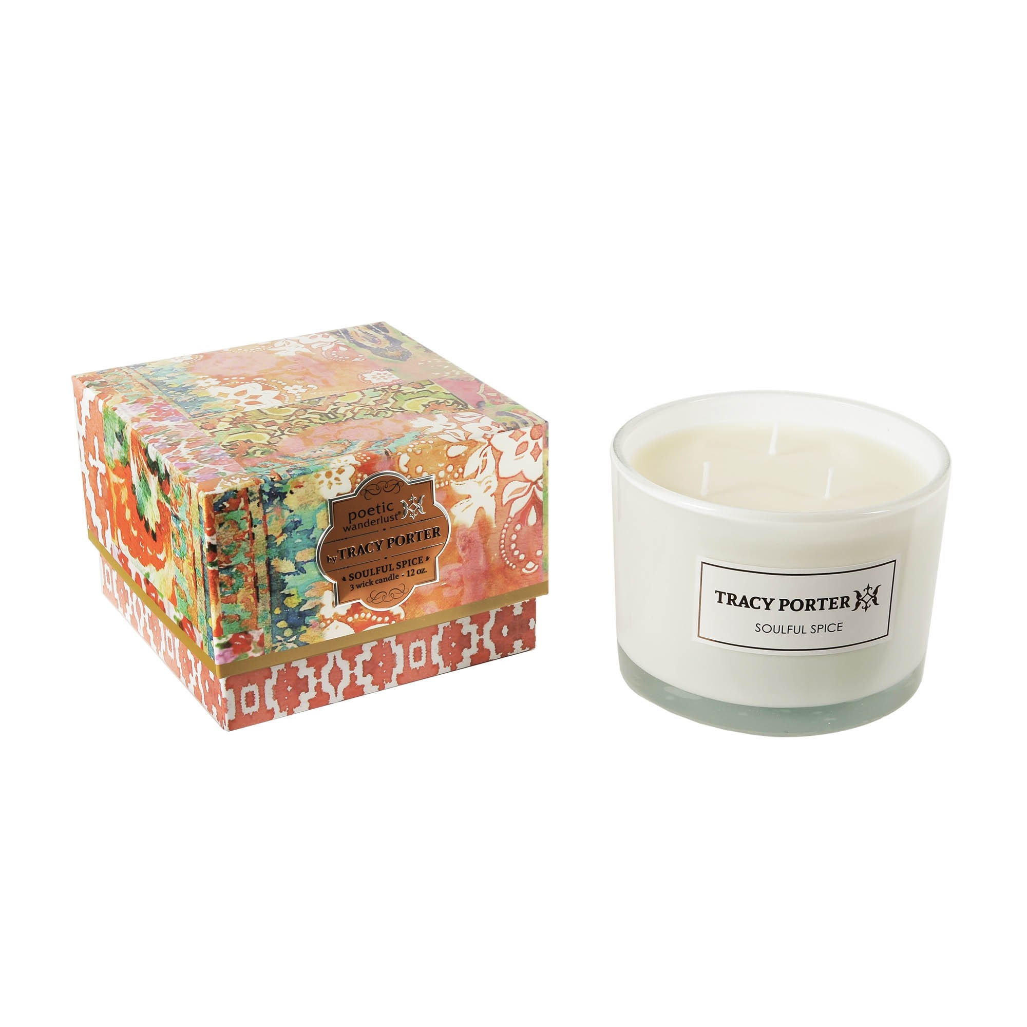 Tracy Porter Soulful Spice 3 Wick Candle 12 Ounces