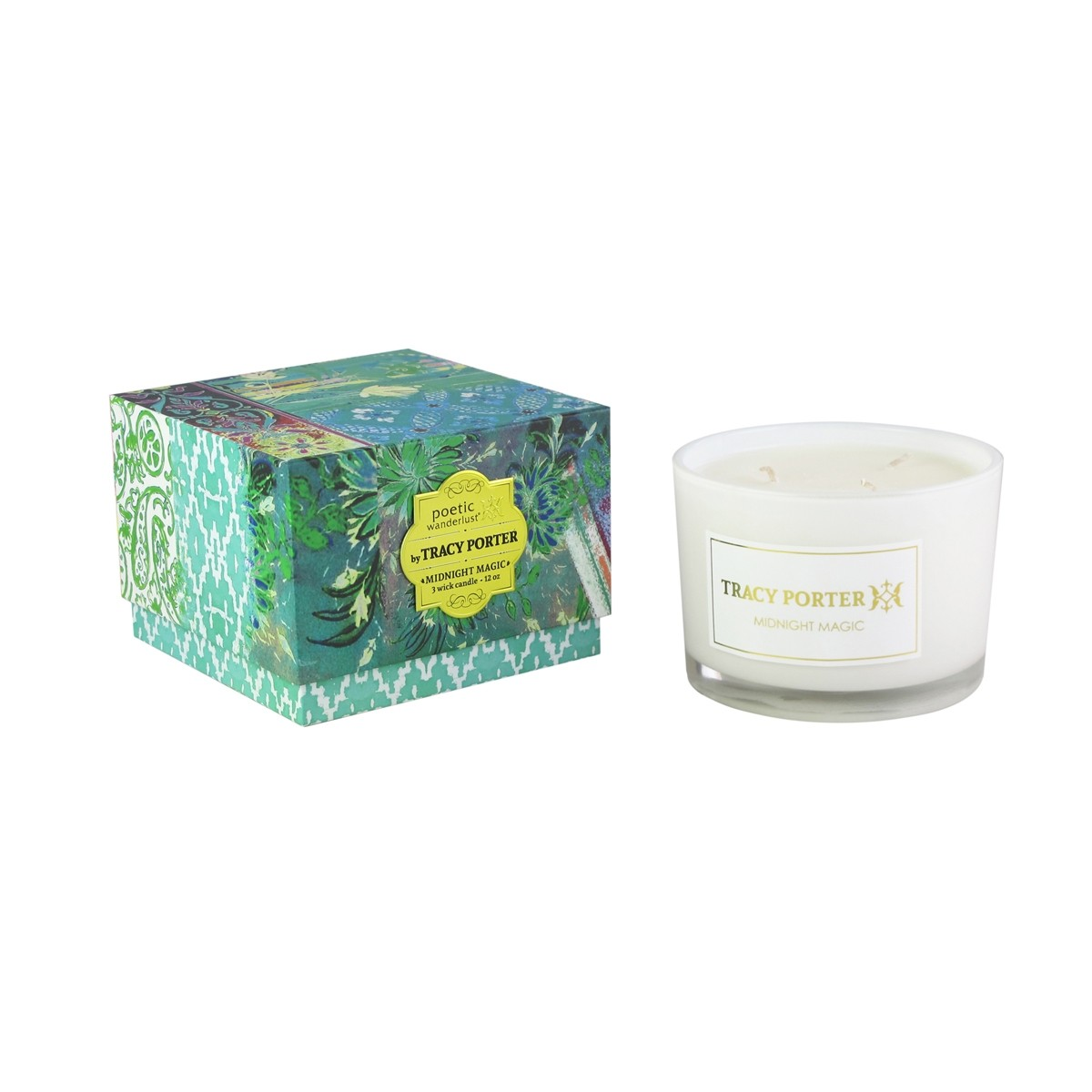 Tracy Porter Midnight Magic 3 Wick Candle 12 Ounces