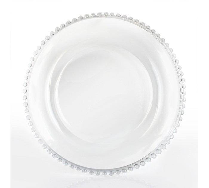 ChargeIt by Jay! 13-Inch Beaded Charger Plate