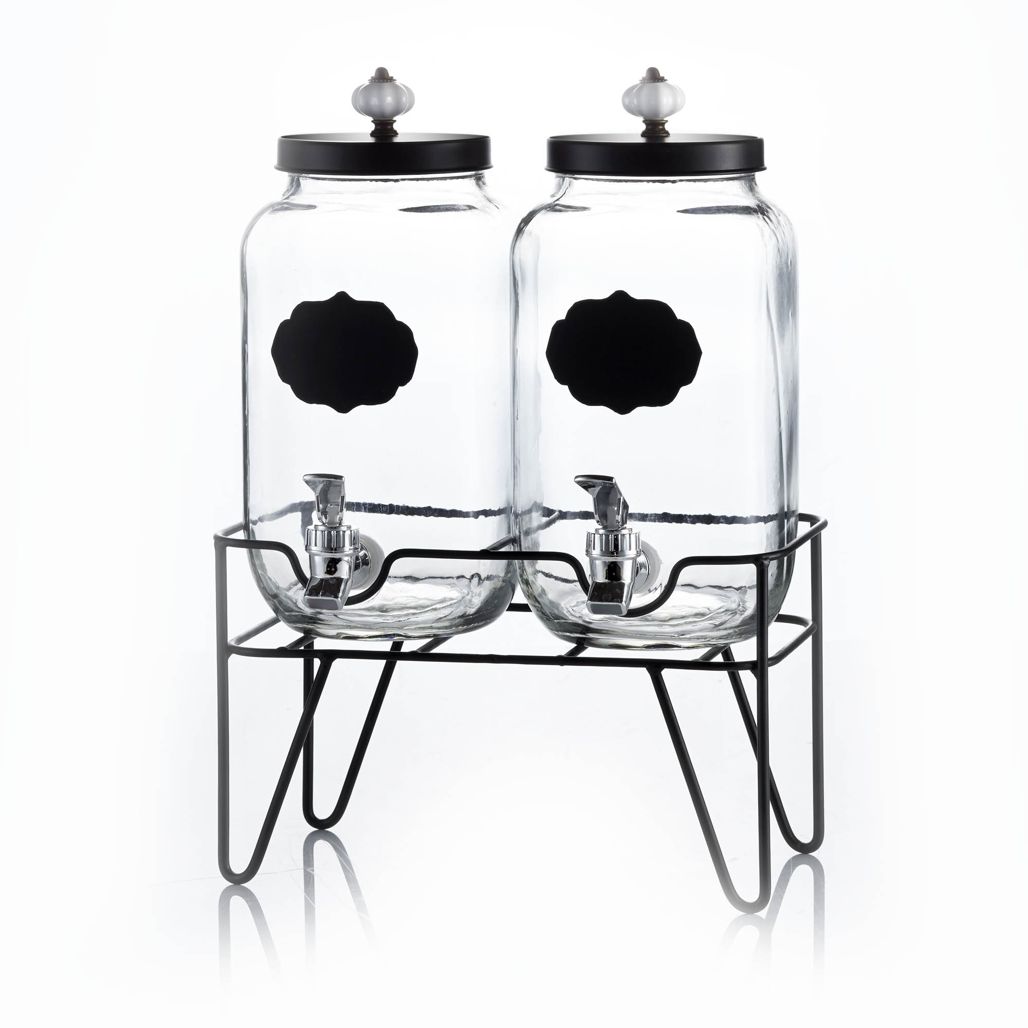 Style Setter Manchester Set of 2 Beverage Dispensers with Stand