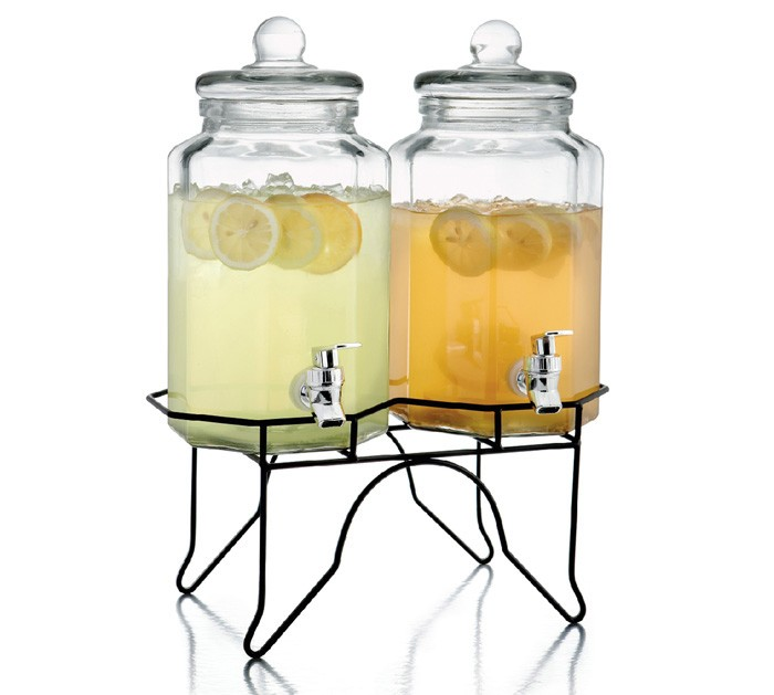 Style Setter Laredo Octagon Double Beverage Dispenser with Stand
