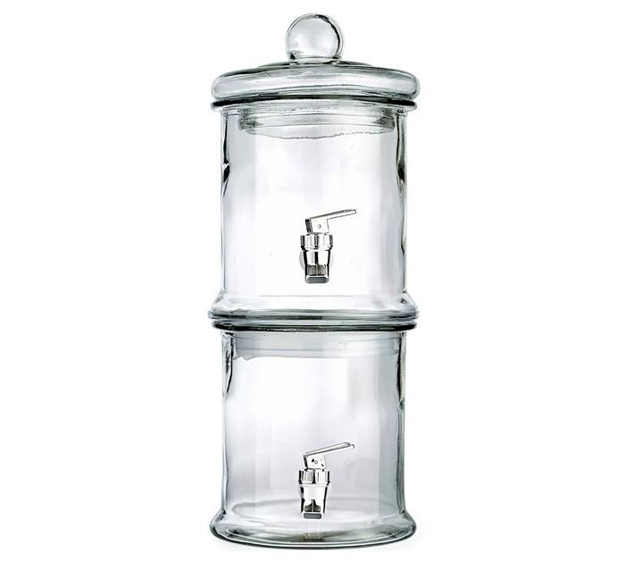 Style Setter Norfolk Glass Double Beverage Dispenser