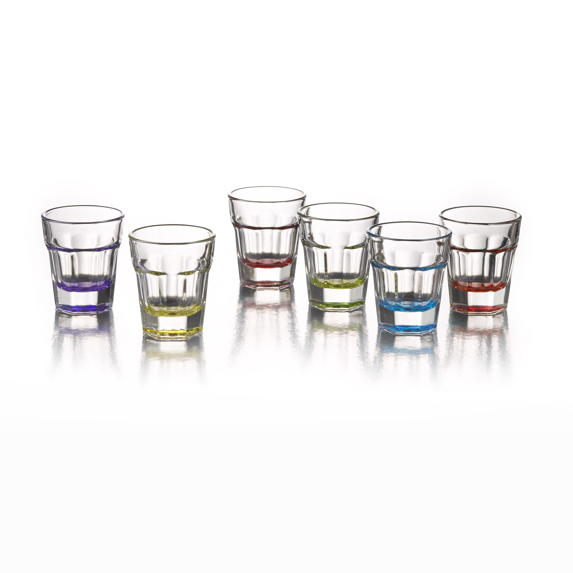 Style Setter Breve Colors Set of 6 Shot Glasses