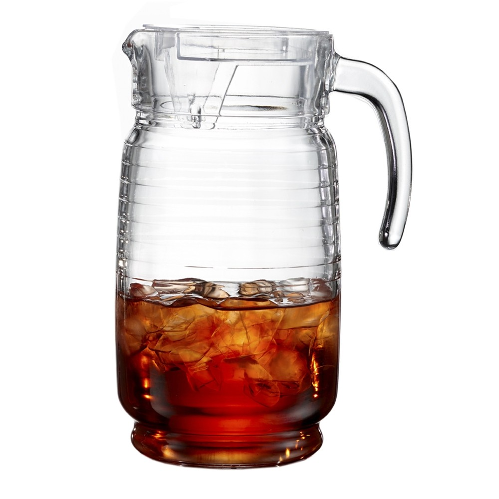Style Setter Uptown Glass Pitcher with Lid, Clear