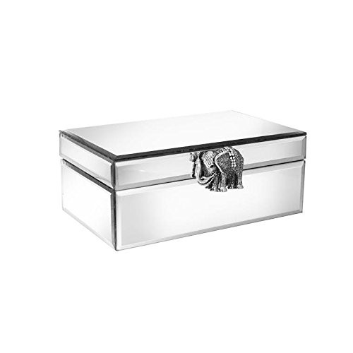 American Atelier Elephant Brooch Mirror Jewelry Box