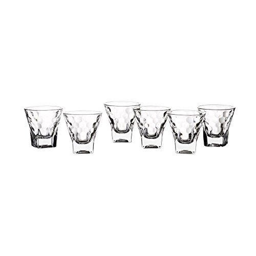 Style Setter Ethan Shot Glasses (Set of 6), Clear