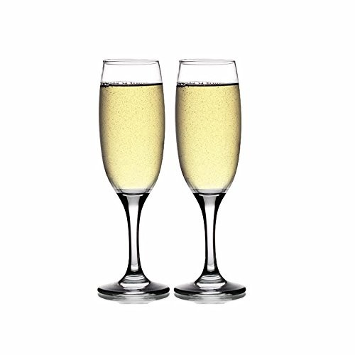 Style Setter Abigail Chandon Flutes (Set of 2), Clear