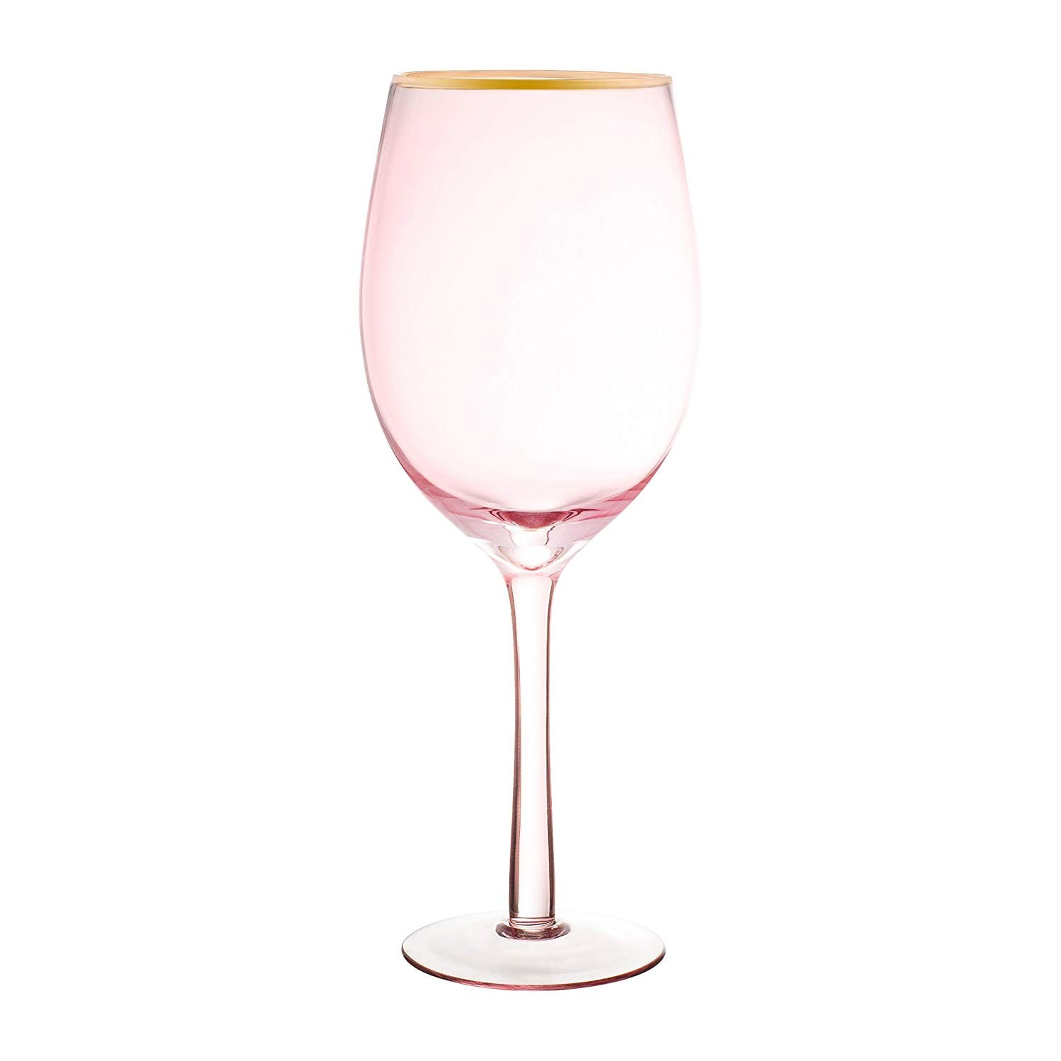 Fifth Avenue Crystal 229352-4WN Vivienne Wine Glasses, Pink