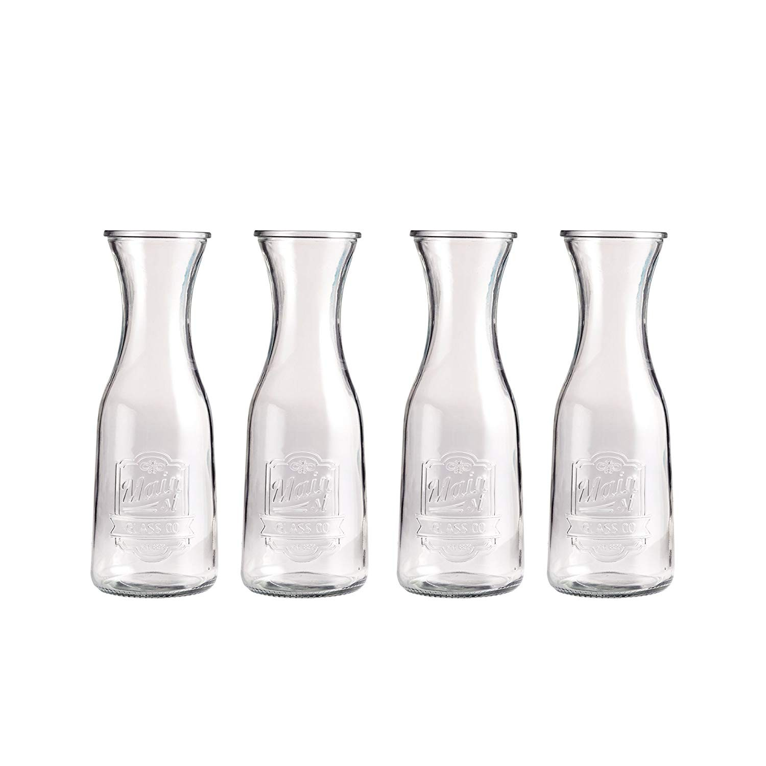 "Style Setter 203260-4SGB Main Street Glass Pitchers, Clear, 2.3"" x 6.6"""
