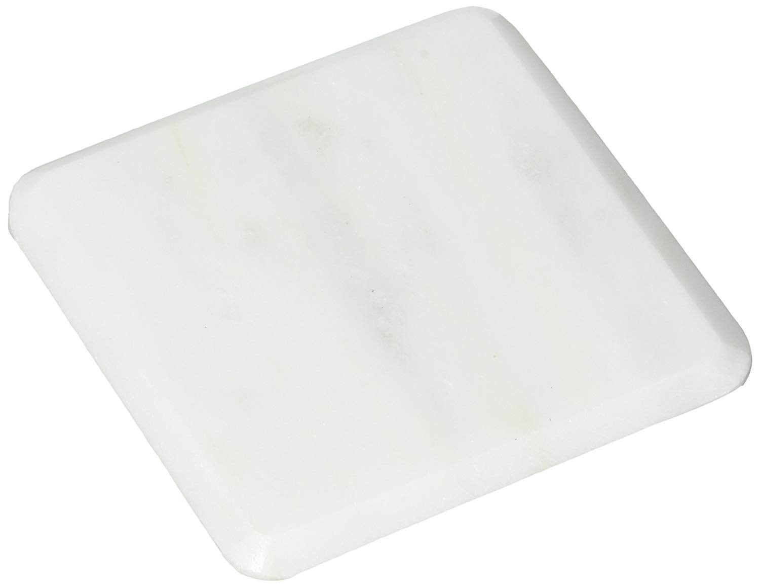 American Atelier 1330364 Marble Coasters (Set of 4), White