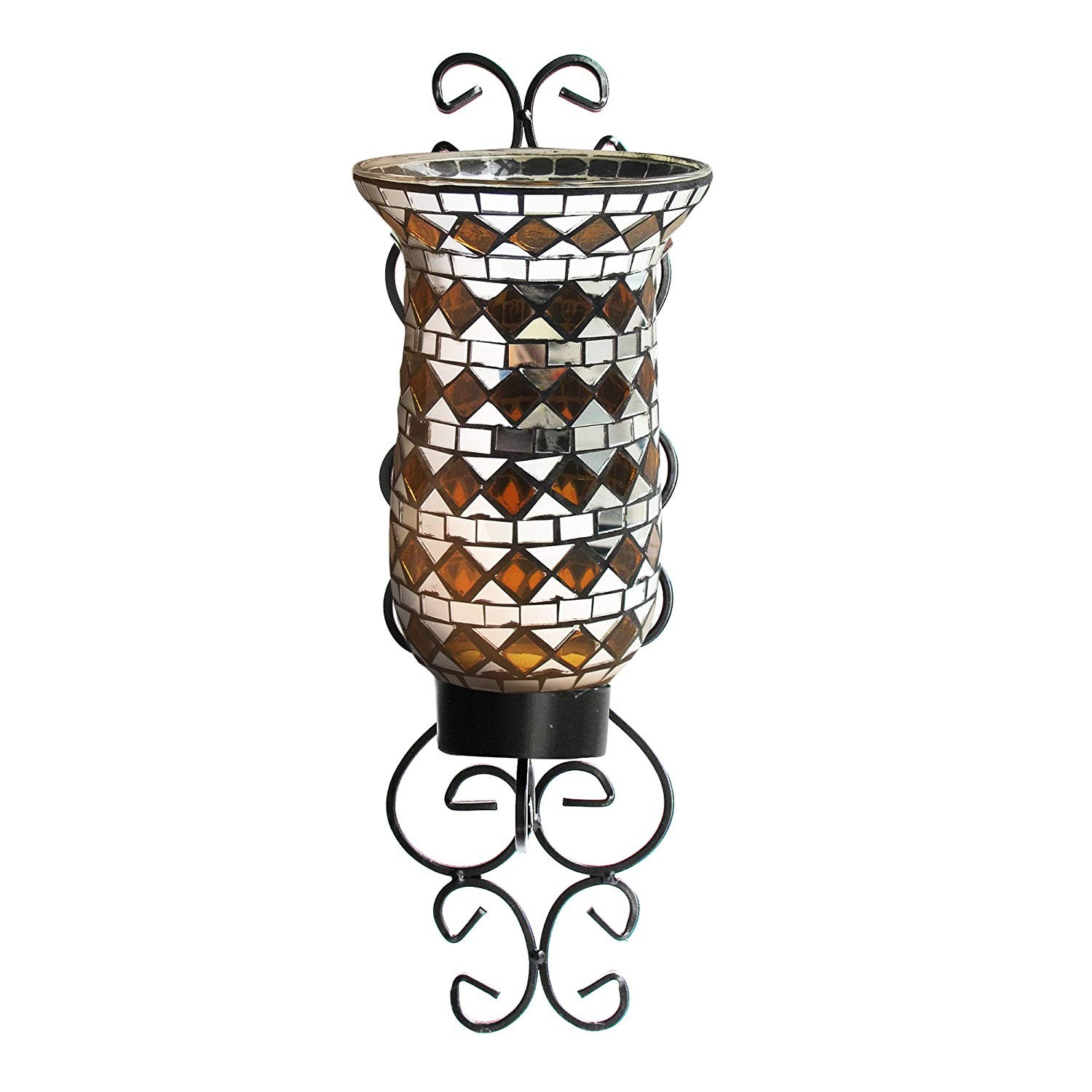 American Atelier 1330245 Mosaic Glass Wall Candle Sconce
