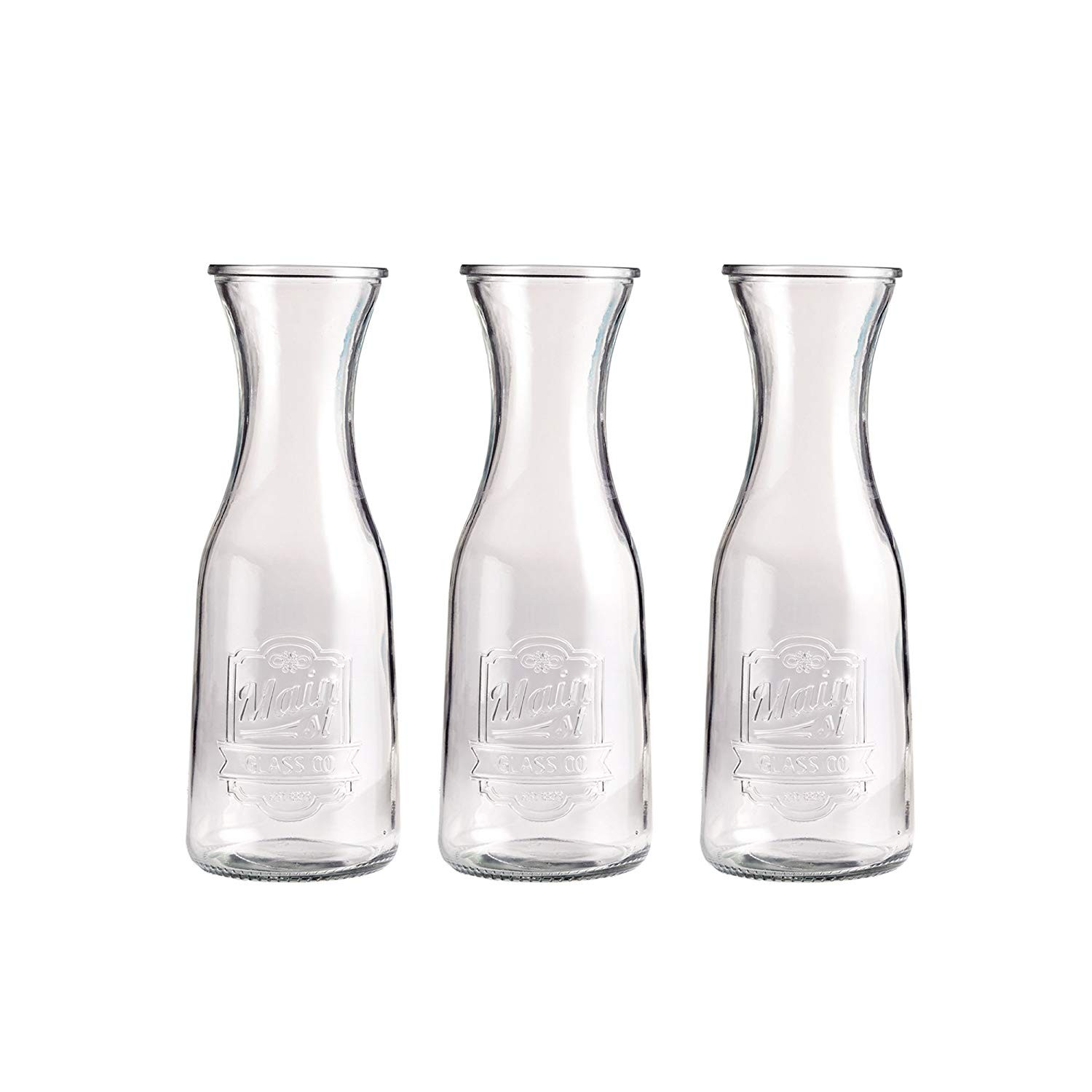 Style Setter Main Street Glass Pitchers, Clear, 2.9 x 7.6""