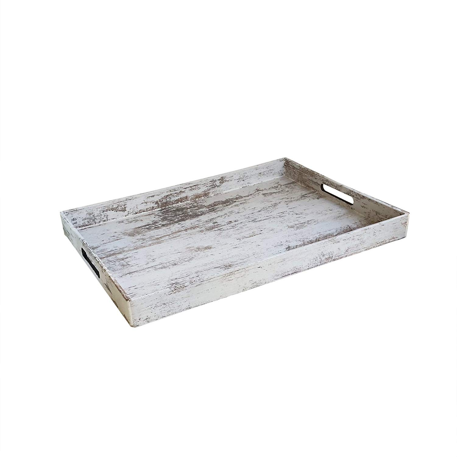 "American Atelier ""Birch Wood Tray"" Serving Tray, Brown, 14 x 19 x 2"""
