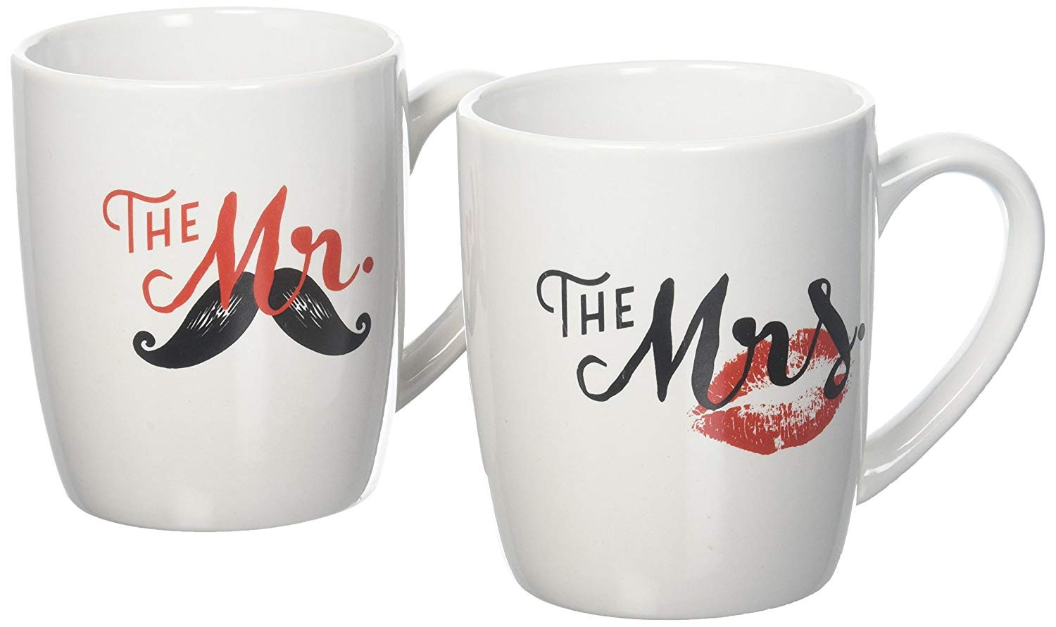 American Atelier 1562555-2M His & Hers Coffee Mugs Set, White