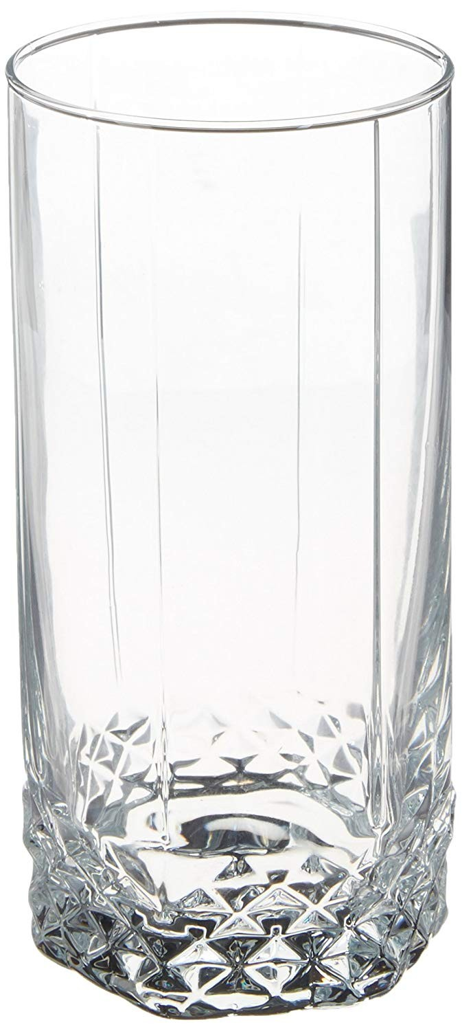 Style Setter Rocks Highball Glass (Set of 4), Clear