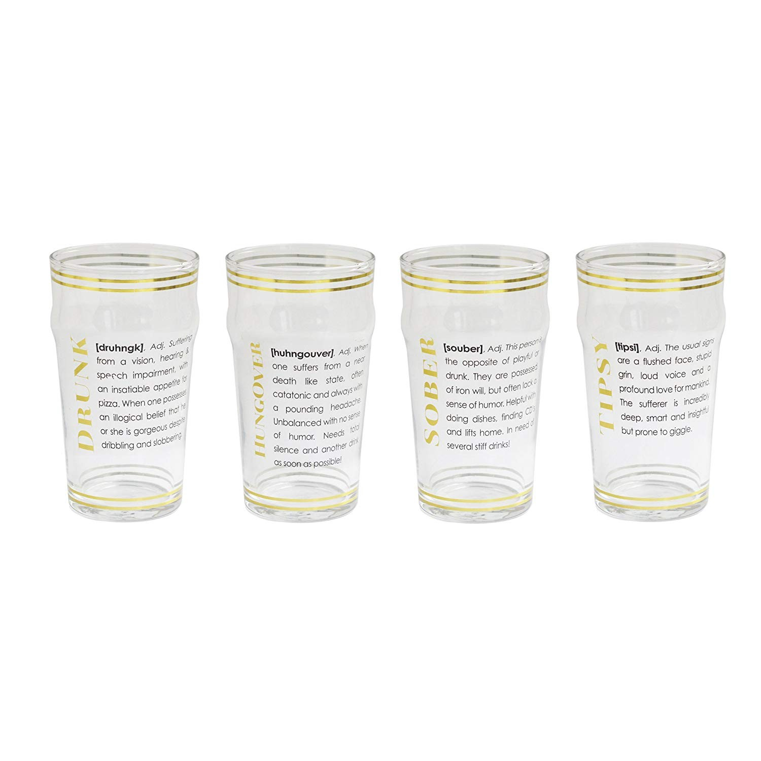 Style Setter Definition Set of 4 Beer Glasses