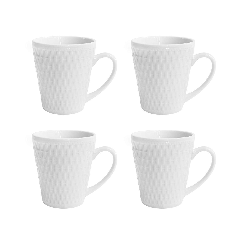 Elle Decor Juliette Set of 4 White Mugs
