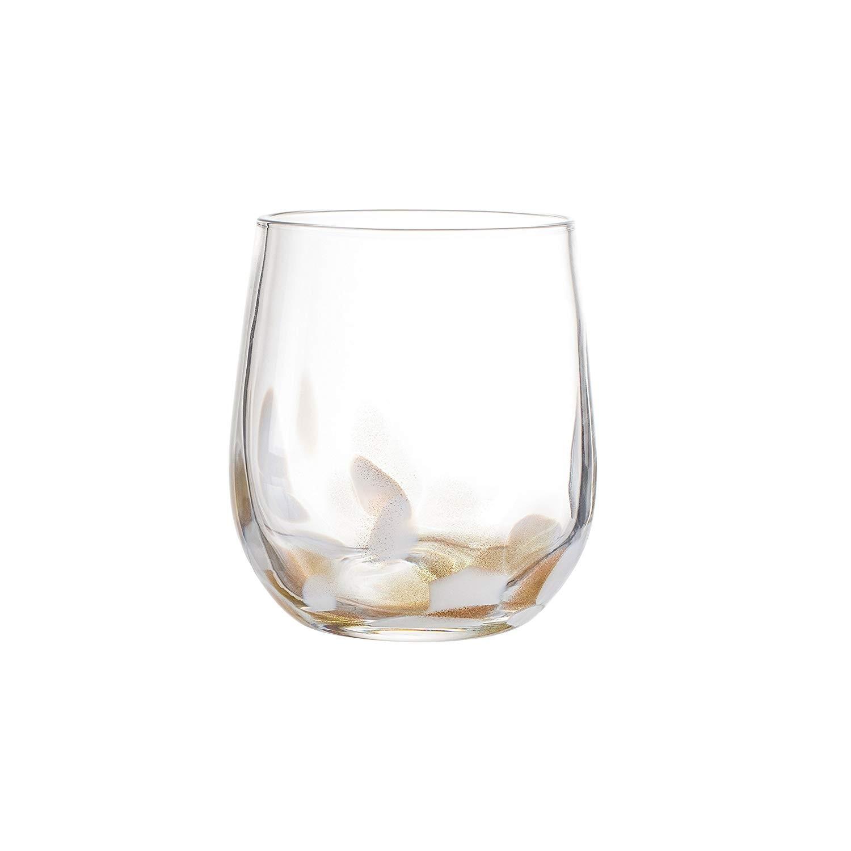 "Elle Decor Simone Stemless goblets, White, 3"" x 3"" x 4"""