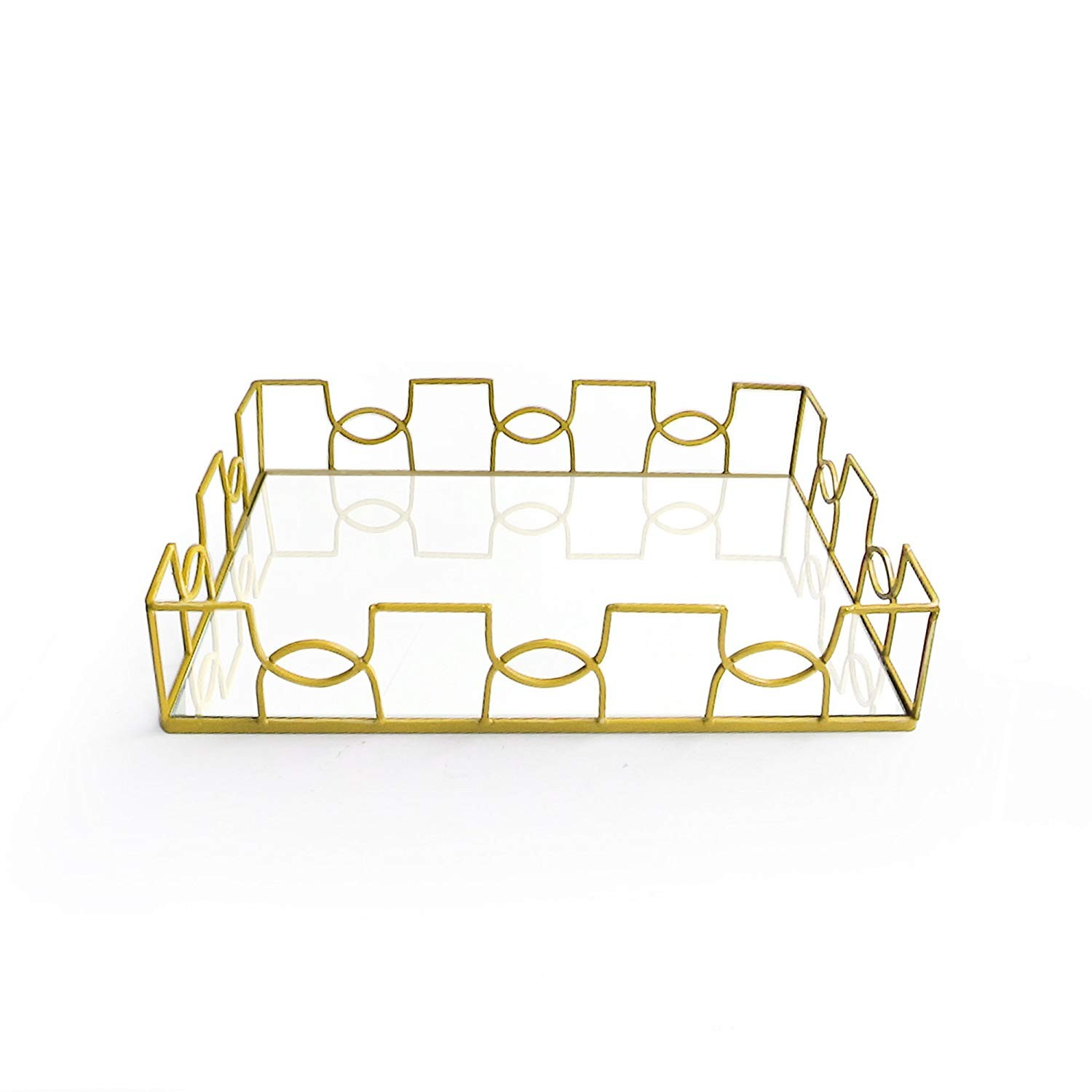 American Atelier Rectangle Mirror Tray, Gold