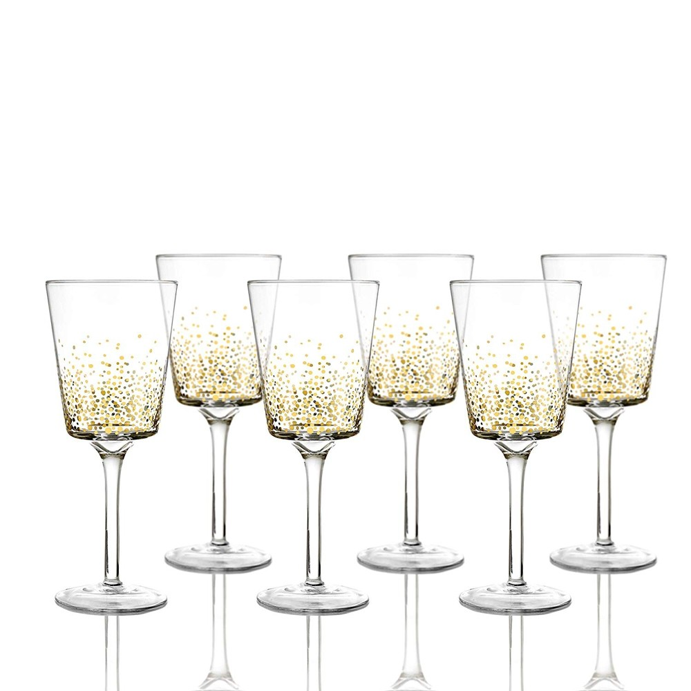 Fitz and Floyd 229700-6GO Luster Goblets Set of 6 - Gold