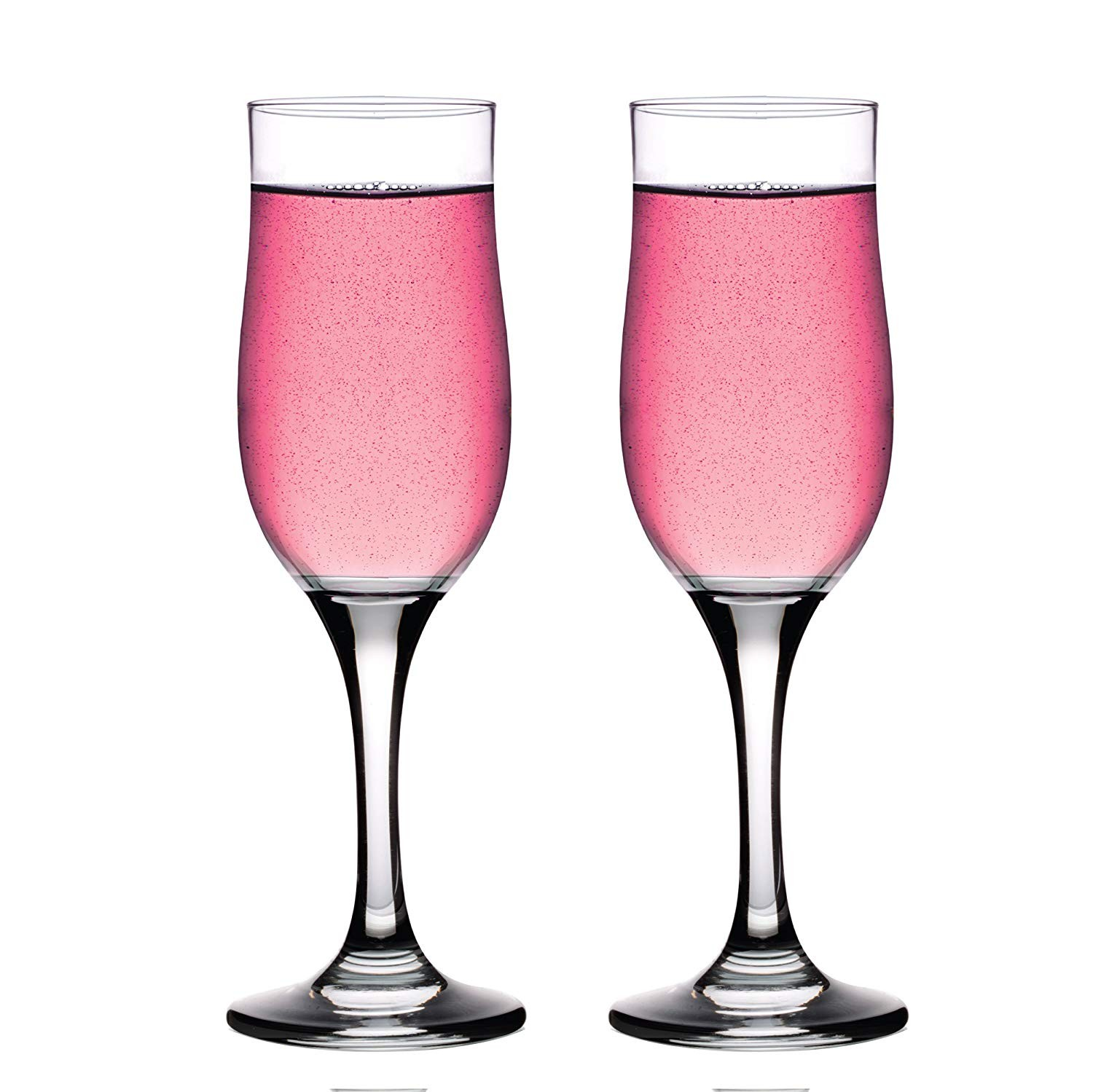 Style Setter Abigail Tulip Flutes (Set of 2), Clear