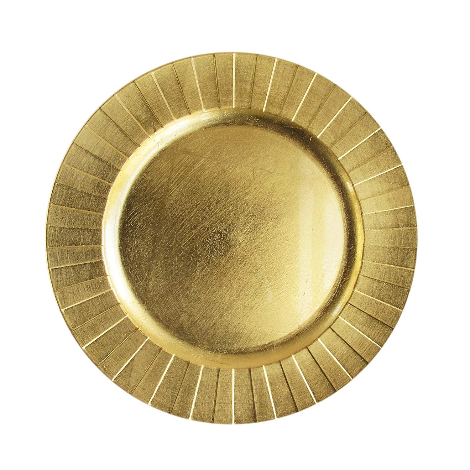 ChargeIt by Jay 1182772 Accent Rim Charger Plate, Gold