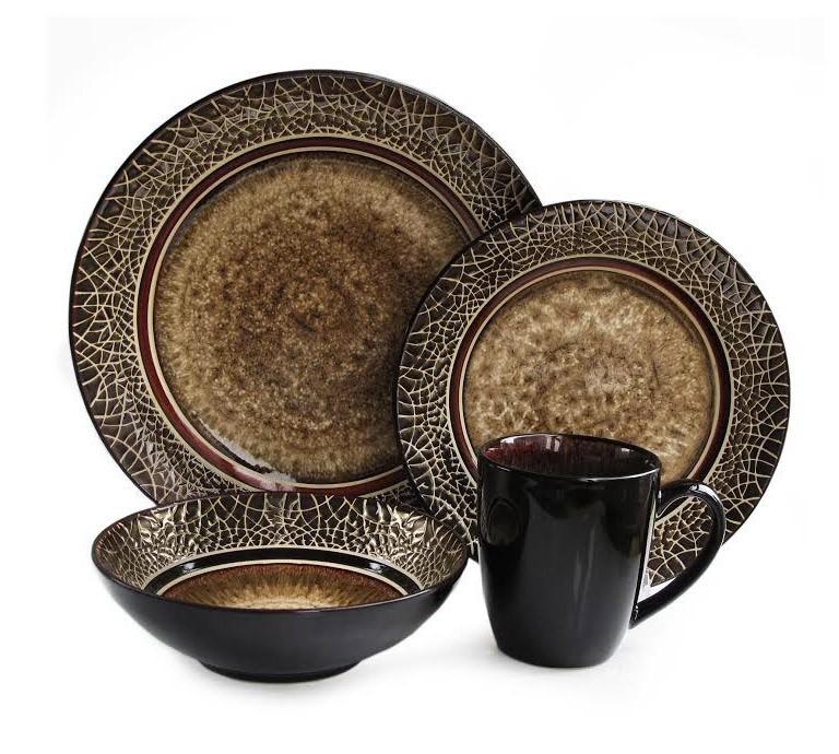 American Atelier 16 Piece Markham Round Dinnerware Set