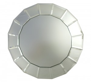 ChargeIt! by Jay Beveled Block Mirror Charger Plate