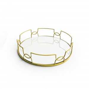 American Atelier Round Mirror Tray