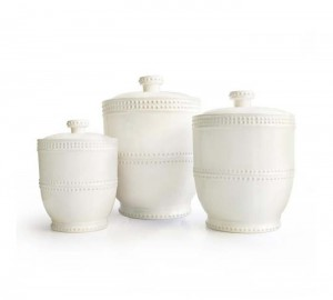 American Atelier Bianca Bead 3 Piece Canister Set
