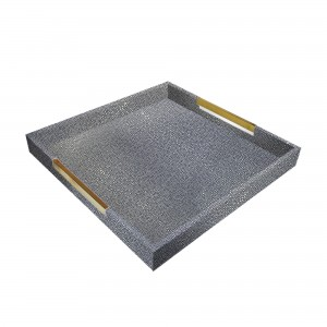 American Atelier Square Tray with Gold Handles