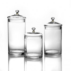 Fitz & Floyd Set of 3 Glass Canisters with Knobs