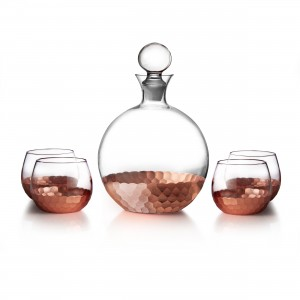 Fitz & Floyd Daphne 5 Piece Decanter Set