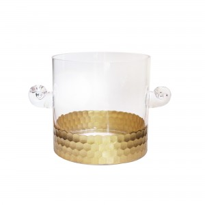 Fitz & Floyd Daphne Gold Ice Bucket