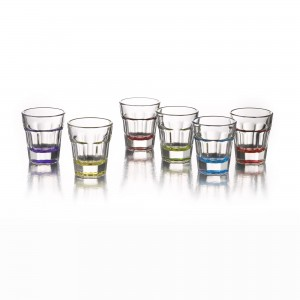 Style Setter Breve Colors Set of 6 Shot Glasses