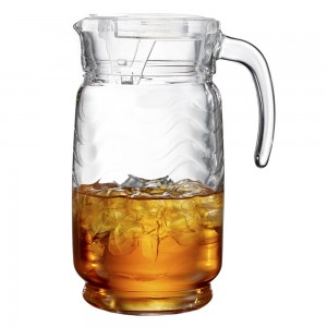 Style Setter Allure Glass Pitcher with Lid, Clear