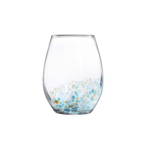 Fitz and Floyd 229568-4ST Callie Stemless Goblets, Blue