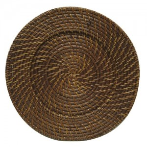 ChargeIt by Jay Brown Rattan Charger Plate