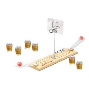 "Game Night Basketball Shot Glass Shot Glasses, Multicolor, 13.8"" x 4.25"" x 9.45"""