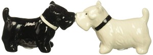 American Atelier Puppies Salt & Pepper Shakers, Black & White