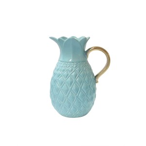 American Atelier 6889-PIT Ceramic Pitcher, Blue, 7.9 x 6 x 10