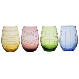 Fifth Avenue Crystal 229552-4STJF Stemless Wine Glass Set of 4
