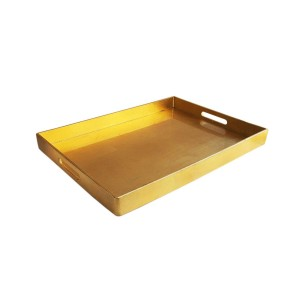 American Atelier Metallic Serving Tray with Handles, Gold