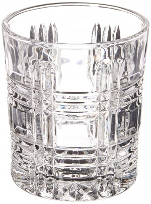 Fitz and Floyd 329050-4OF-B Portland Old Fashion Glasses (Set of 4), Clear