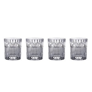 Fitz and Floyd 329052-4OF-B Danbury Old Fashion Glasses (Set of 4), Clear