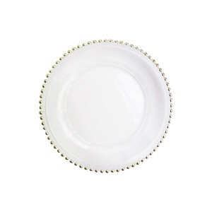 ChargeIt by Jay Aflair Beaded Glass Charger Plate, Gold