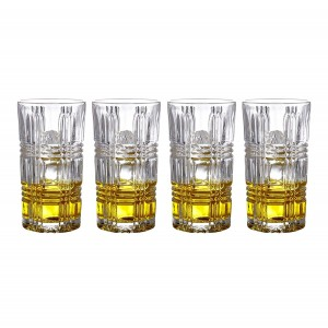 Fitz and Floyd 329050-4HB-B Portland Highballs (Set of 4), Clear