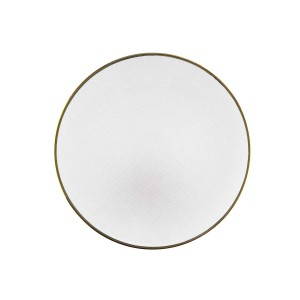 ChargeIt by Jay Laurel Glass Charger Plate, White