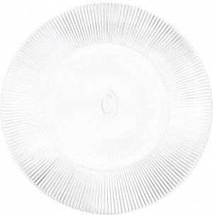 ChargeIt by Jay Sunray Clear Glass Charger Plates, Set of 2