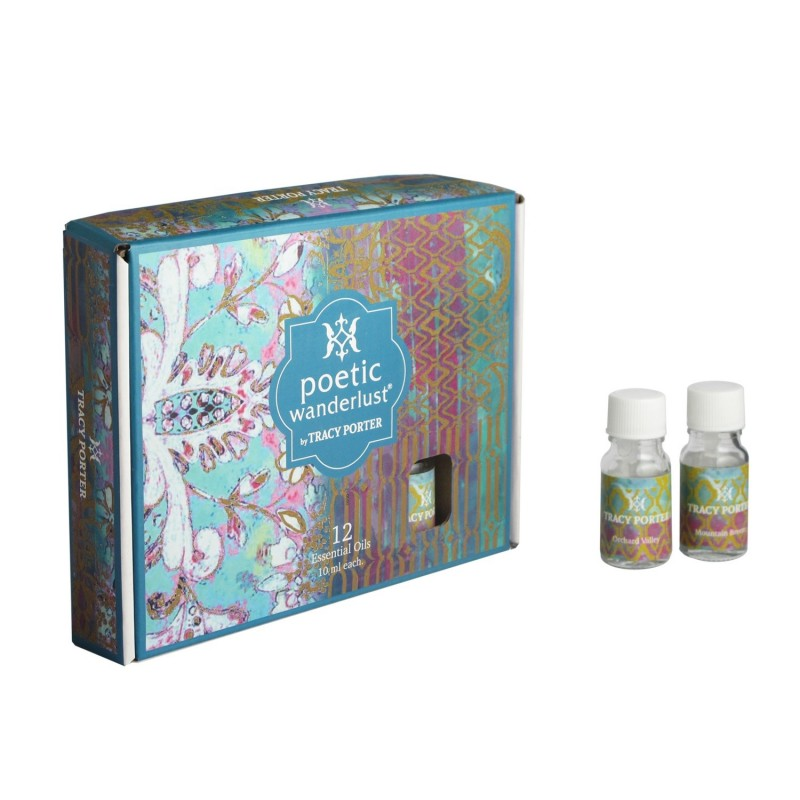 Tracy Porter Assorted 12 Essential Oils – Orchard Valley, Mountain Breeze, Mandarin Medley and Morning Pastry